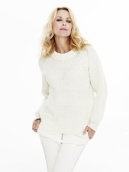 Patentstrikket raglansweater (dame+herre)