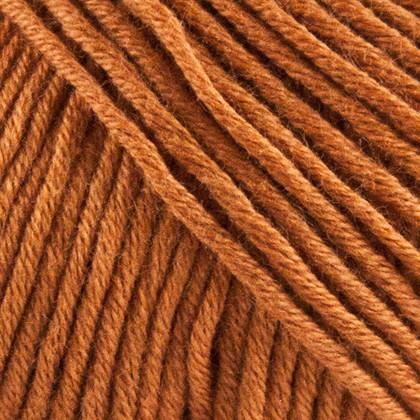 Organic Cotton, brændt orange