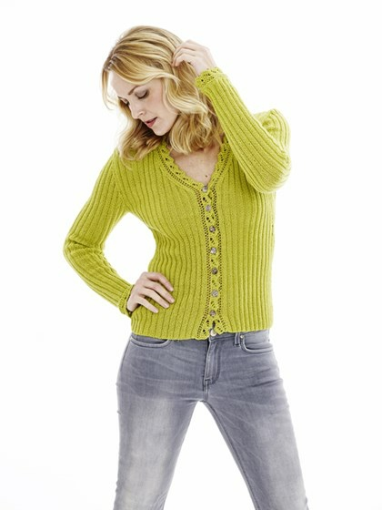 Cardigan med blonde