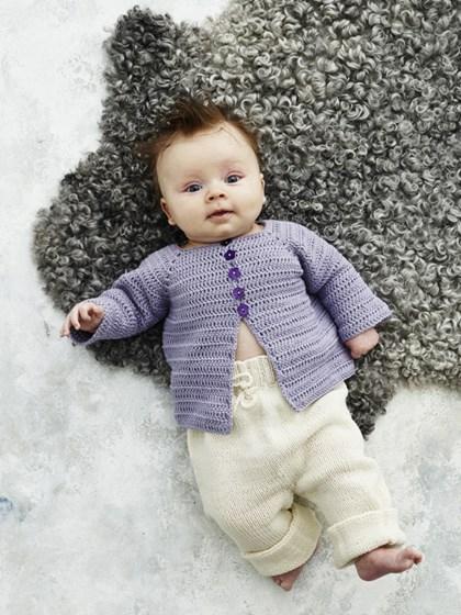 Hæklet babyjakke
