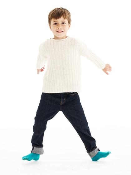 Drengesweater i snydepatent