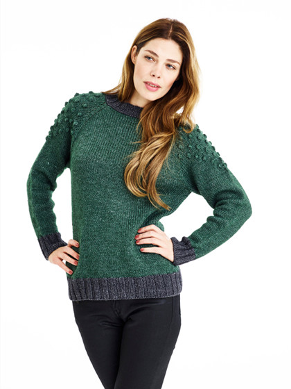 Sweater med knuder