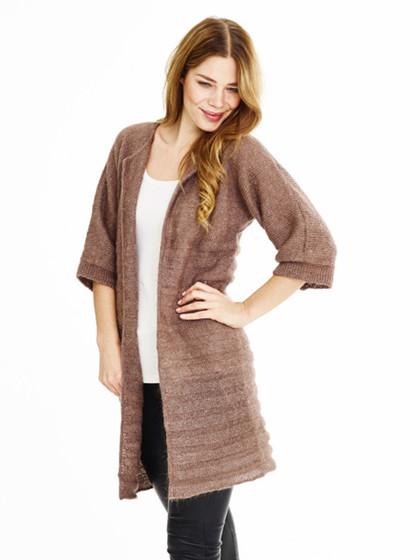 Lang kimono jakke