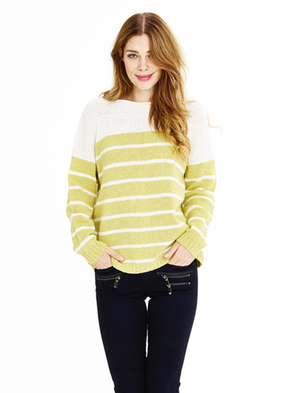 Stribet oversize sweater