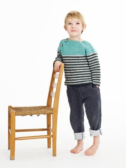 Hæklet drengesweater