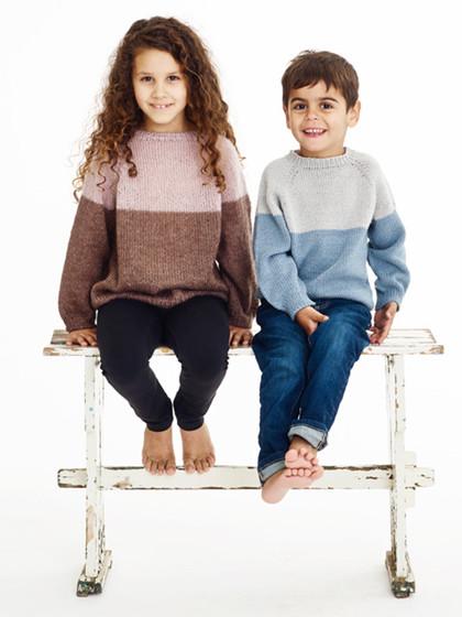 Børnesweater med bærestykke
