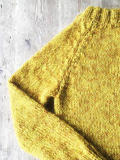 """Modeaktuelle trøje i vores """"Mohair+Wool"""""""