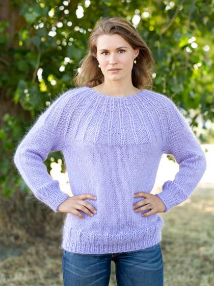 Sweater med ribbærestykke