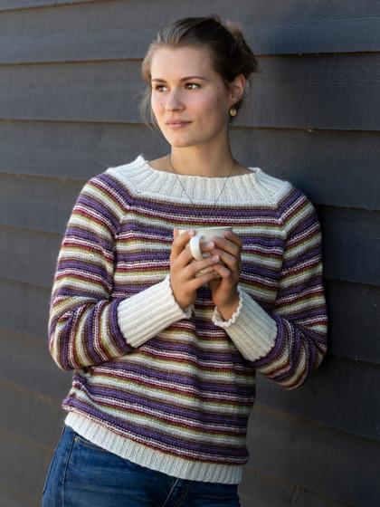 Stribet oversize sweater