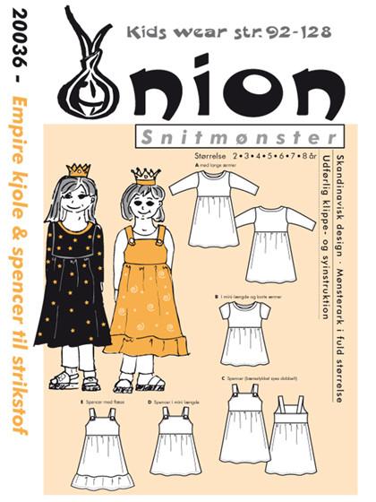 Snitmønster, Empire kjole & spencer til strik