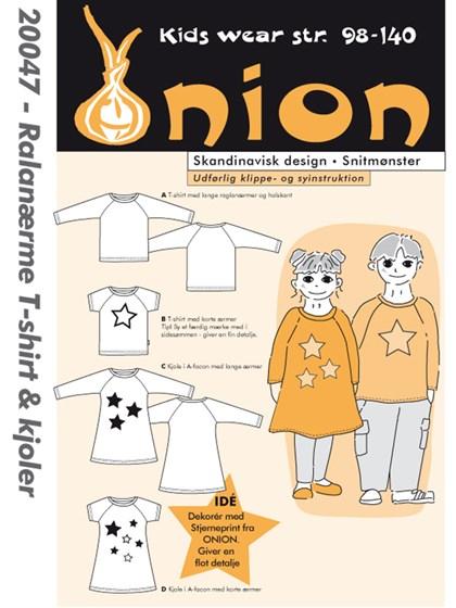 Snitmønster, Raglanærme T-shirt & kjoler
