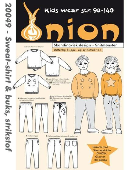 Snitmønster, Sweat-shirt & buks, strikstof