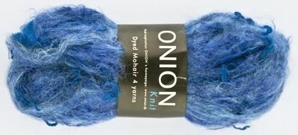 Dyed Mohair, turkis,blå,lilla