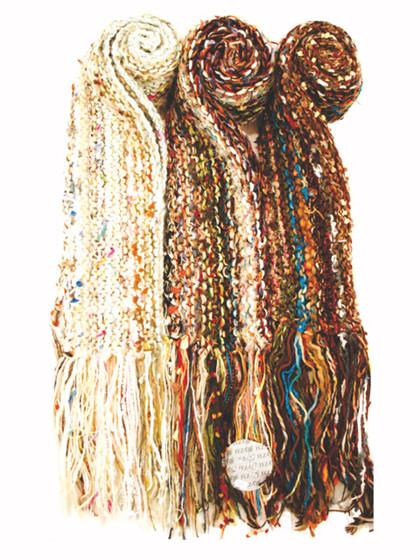 Tørklæde strikket på tværs