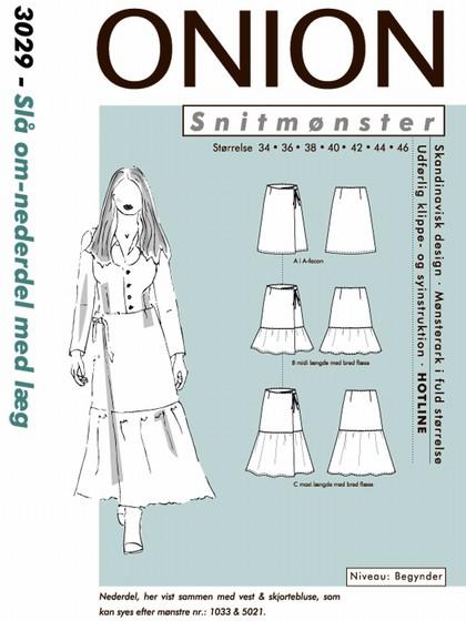 Snitmønster, Slå om-nederdel med læg