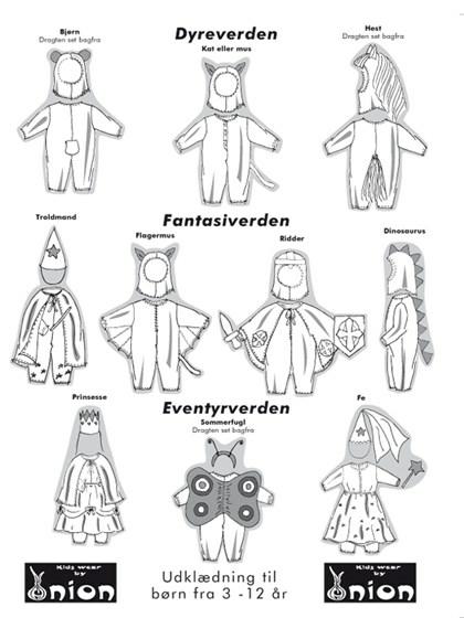 Snitmønster, Udklædning til børn fra 3-12 år