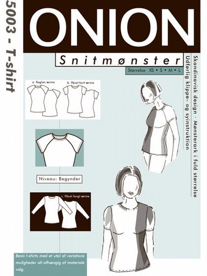 Snitmønster, T-shirt med påsat- og raglanærme