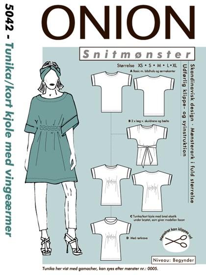 Snitmønster, Tunika/kort kjole med vingeærmer