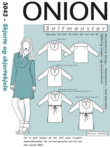 Snitmønster, Skjorte & skjortekjole