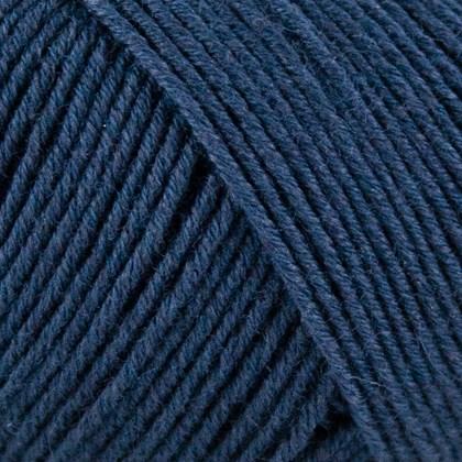 Fino Org. Cotton+Merino Wool, blå marine
