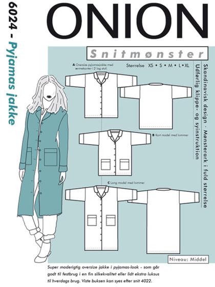 Snitmønster,  Pyjamas jakke