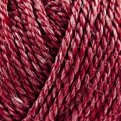 No.6 Organic Wool+Nettles, mørk rød