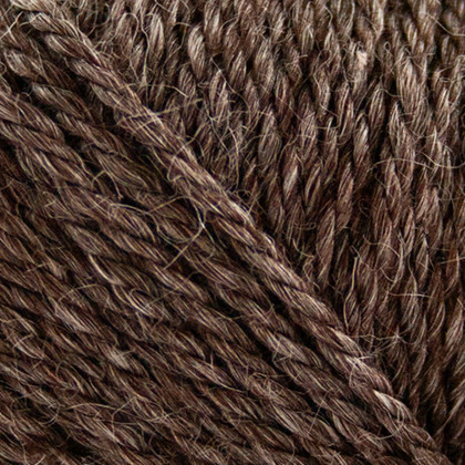 No.6 Organic Wool+Nettles, choko brun