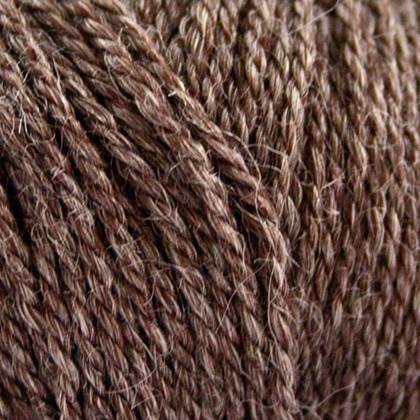 No.4 Organic Wool+Nettles, choko brun
