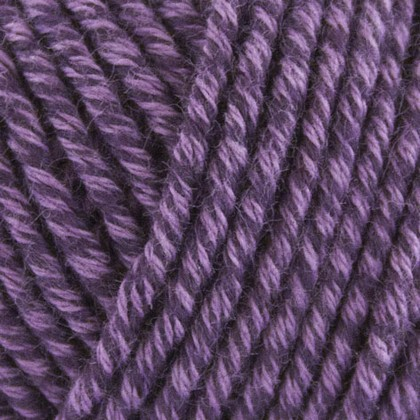 Organic Cotton+Merino Wool, mørk lilla
