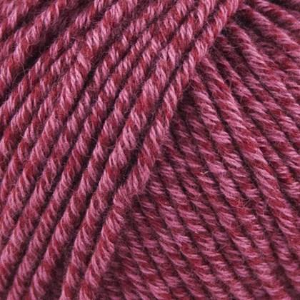 Organic Cotton+Merino Wool, vinrød