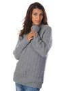 Sweater med strukturmønster