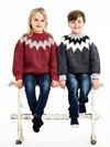 Tyk sweater med rundt bærestykke