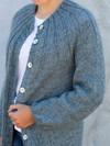 Cardigan med ribbærestykke