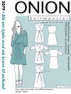 Snitmønster, Slå om-kjole med stå krave til strikstof