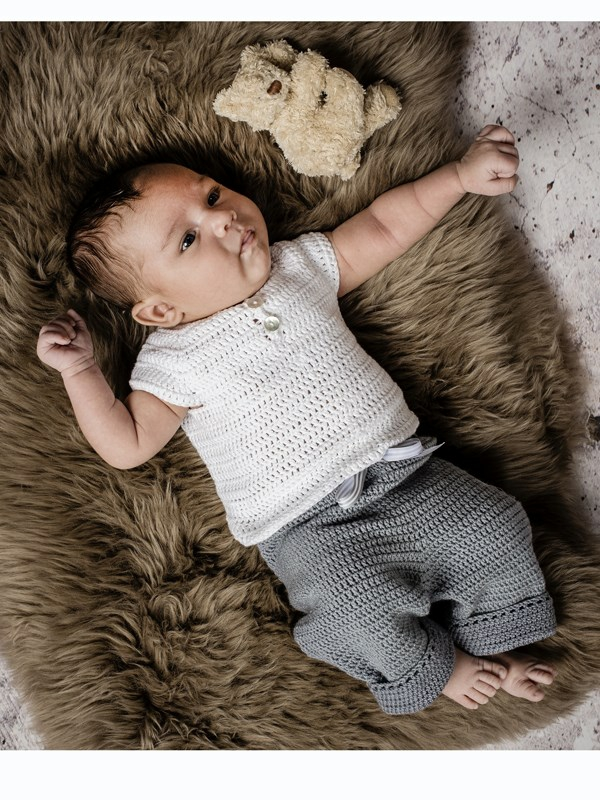 Babyundertrøje Opskrift hæklet babyundertrøje (baby) - onion aps