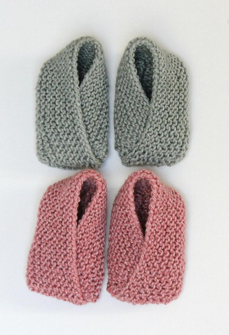 strikkede sko