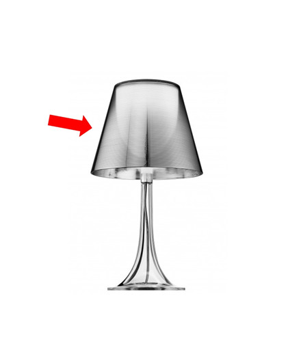 Skjerm til Miss K Bordlampe Aluv Sølv - Flos