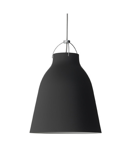 Caravaggio Matt Black/Grey 6m Pendel P4 - Light Ye