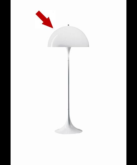 lampenschirm f r die panthella stehlampe louis poulsen lampemesteren. Black Bedroom Furniture Sets. Home Design Ideas