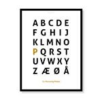 Alfabetplakat - Personlig