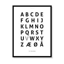Alfabetplakat - Venskab
