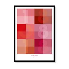 Datoplakat - Rød