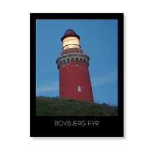Bovbjerg Fyr i aftenlys