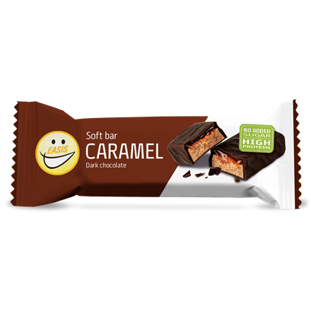 Soft protein bar - caramel and dark chocolate