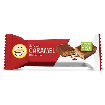 Soft protein bar - caramel and milk chocolate
