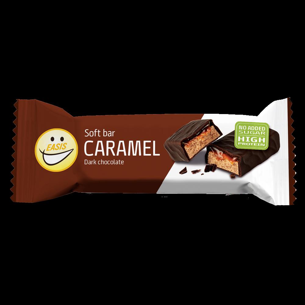 EASIS Soft bar Karamel, mørk sjokolade, 24 stk.
