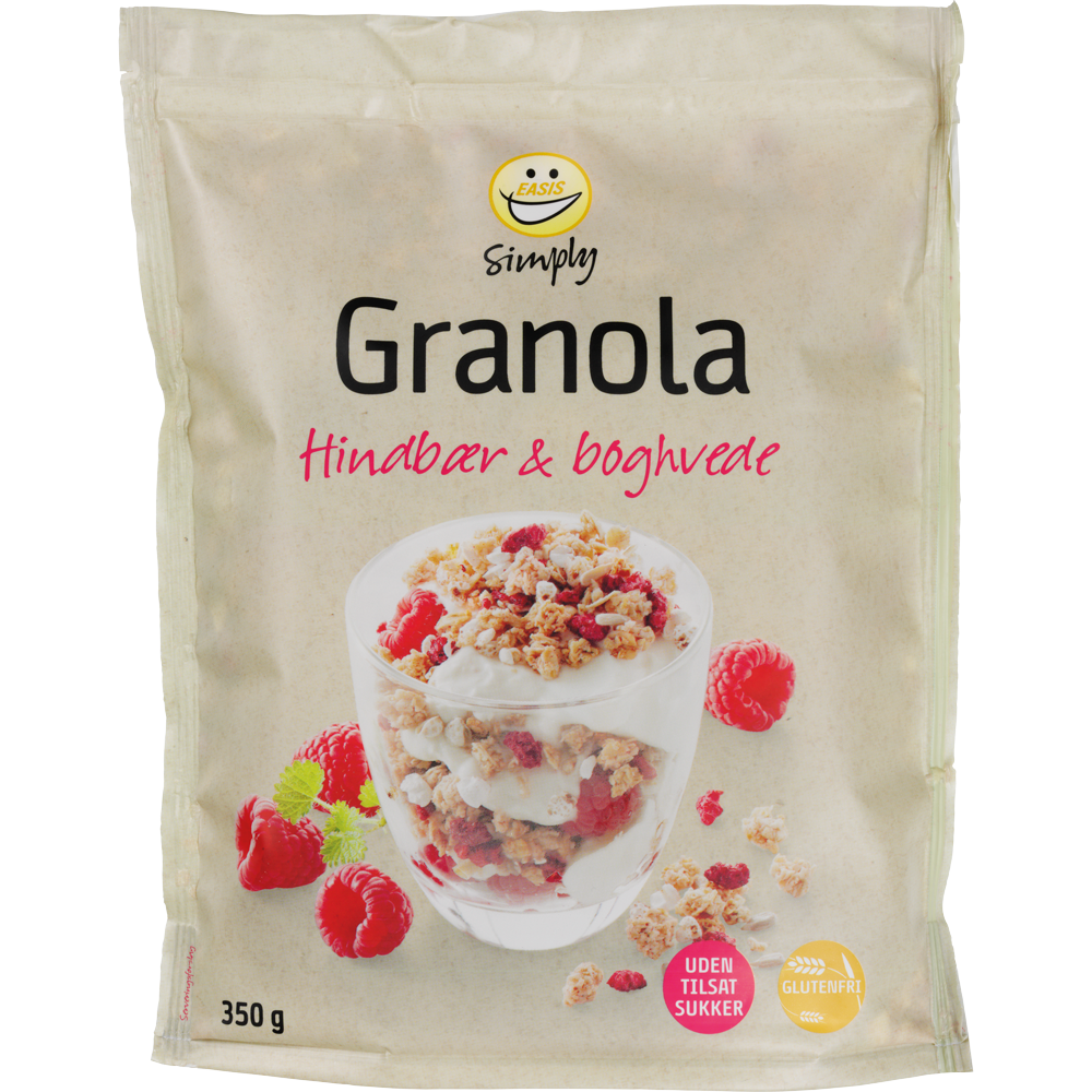 EASIS Simply Granola with Raspberry & Buckwheat