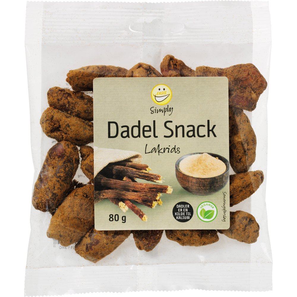 EASIS Simply Dates with licorice powder, 80 g
