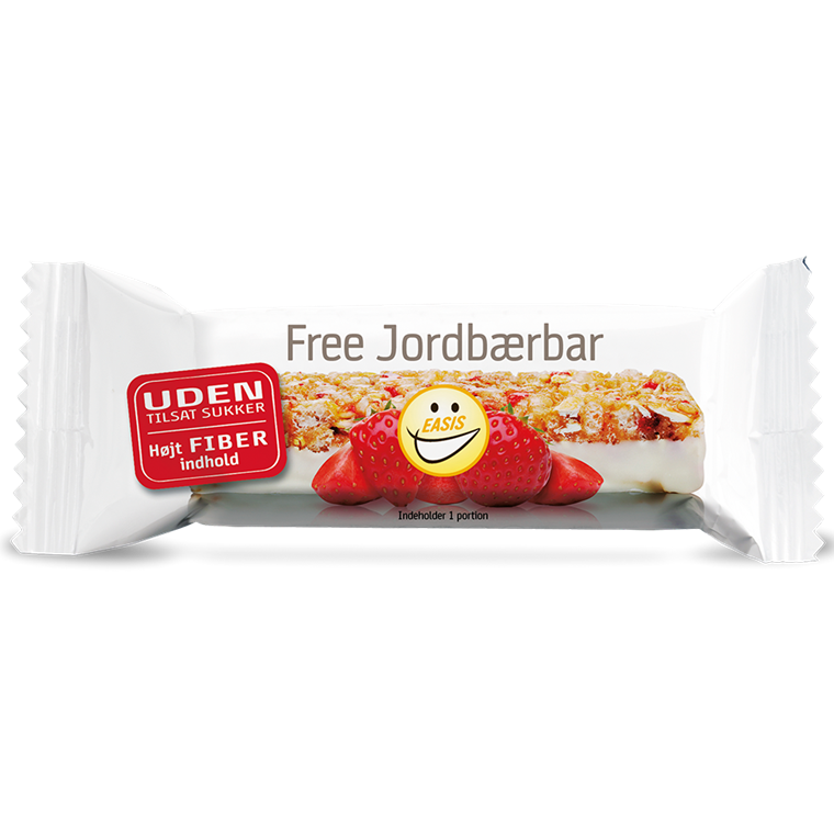 Fibre bar with strawberries