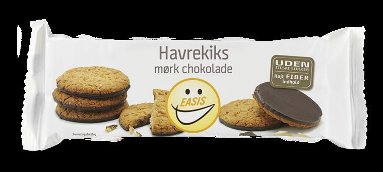 EASIS Havrekjeks med mørk sjokolade